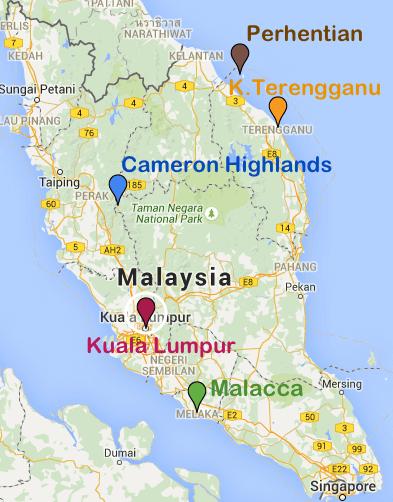 Map Malaisie